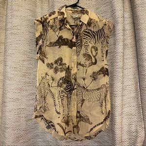 Madewell Safari Silk Button Up
